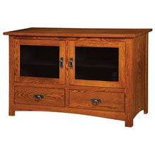 Load image into Gallery viewer, Amish USA Made Handcrafted Classic Mission Plasma TV Stands sold by Online Amish Furniture LLC