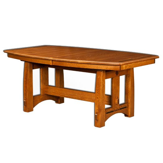 Amish USA Made Handcrafted Colebrook Trestle Table sold by Online Amish Furniture LLC