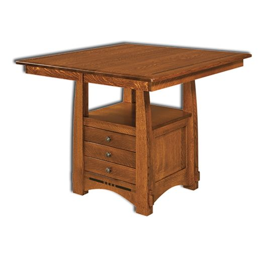 Amish USA Made Handcrafted Colebrook Cabinet Table - Pub Table sold by Online Amish Furniture LLC