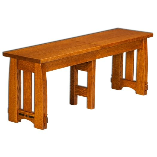 Amish USA Made Handcrafted Colebrook Extenda Bench sold by Online Amish Furniture LLC