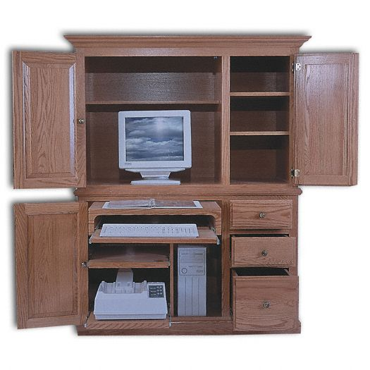 Amish USA Made Handcrafted Deluxe Computer Center sold by Online Amish Furniture LLC