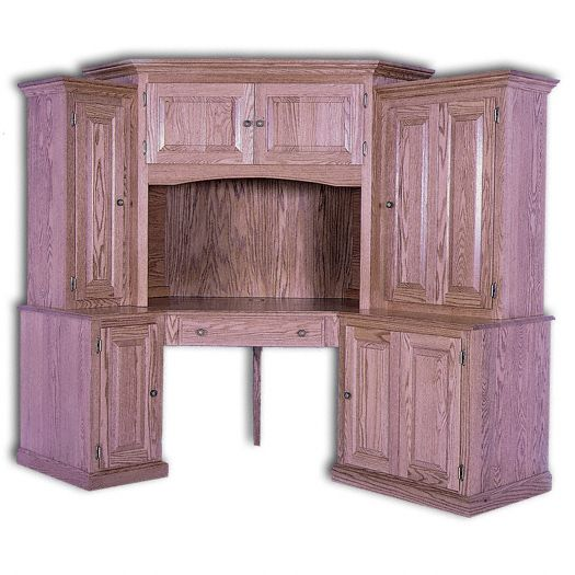 Amish USA Made Handcrafted Corner Computer Center 6-PC sold by Online Amish Furniture LLC