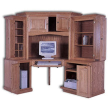 Load image into Gallery viewer, Amish USA Made Handcrafted Corner Computer Center 6-PC sold by Online Amish Furniture LLC