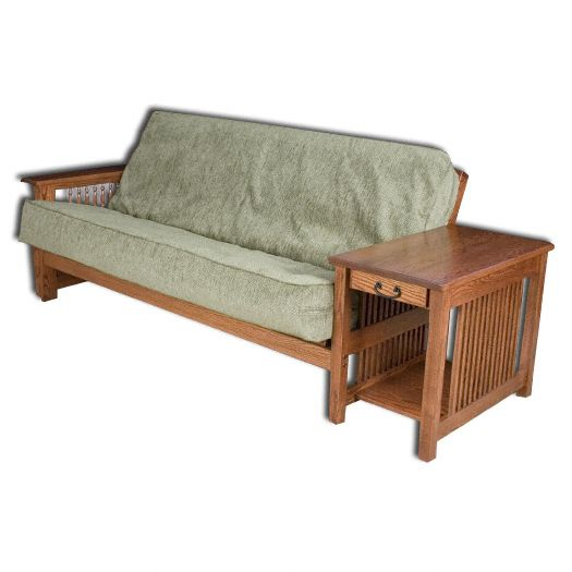 Amish USA Made Handcrafted Cortland Mission Futon sold by Online Amish Furniture LLC