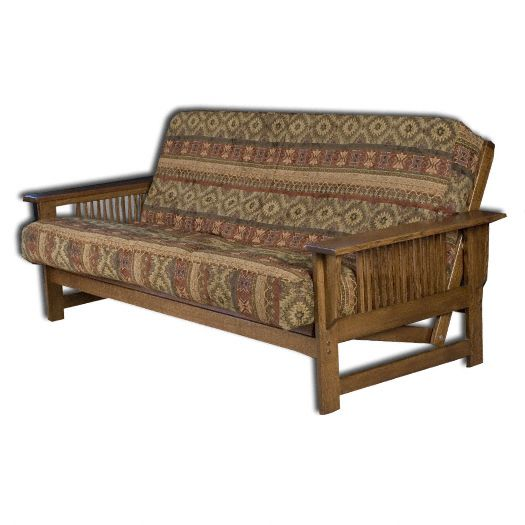 Amish USA Made Handcrafted McIntosh Mission Futon sold by Online Amish Furniture LLC