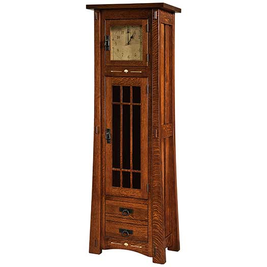Amish USA Made Handcrafted Morgan Clock sold by Online Amish Furniture LLC