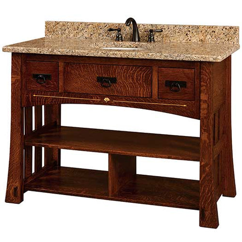 Amish USA Made Handcrafted Mesa 49 Vanity sold by Online Amish Furniture LLC