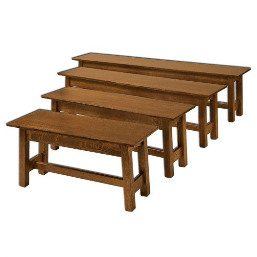 Amish USA Made Handcrafted McCoy Open Benches sold by Online Amish Furniture LLC