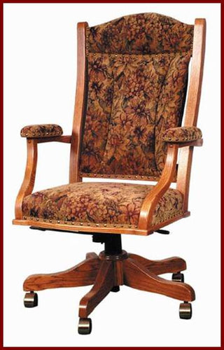 Amish USA Made Handcrafted Office Desk Chair DC55 sold by Online Amish Furniture LLC