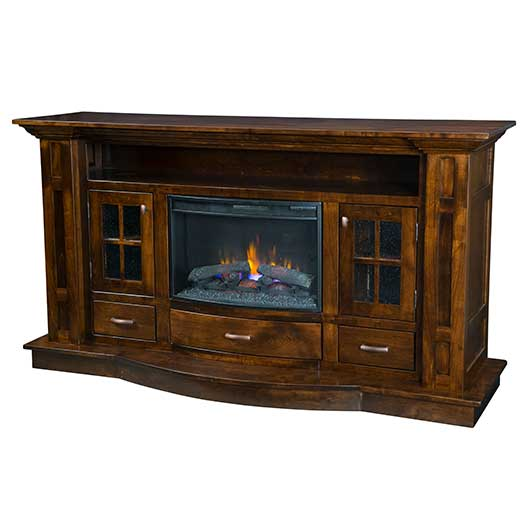 Amish USA Made Handcrafted Delgado Fireplace sold by Online Amish Furniture LLC