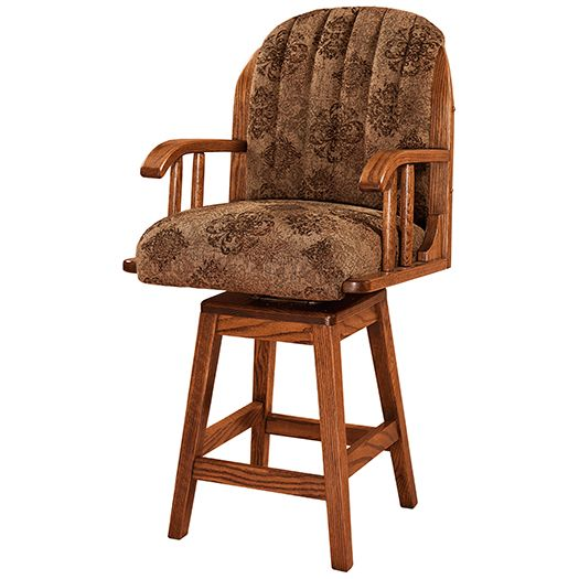 Amish USA Made Handcrafted Delray Bar Stool sold by Online Amish Furniture LLC