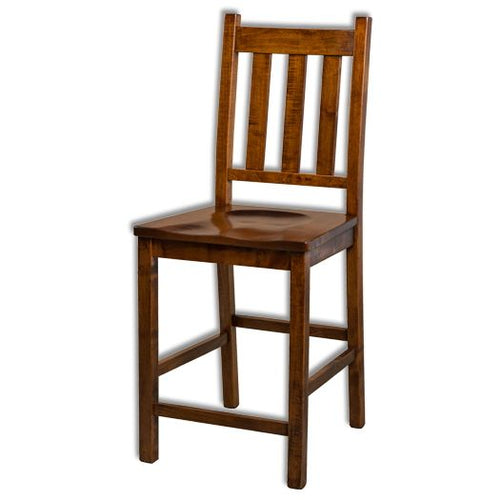 Amish USA Made Handcrafted Denver Bar Stool sold by Online Amish Furniture LLC