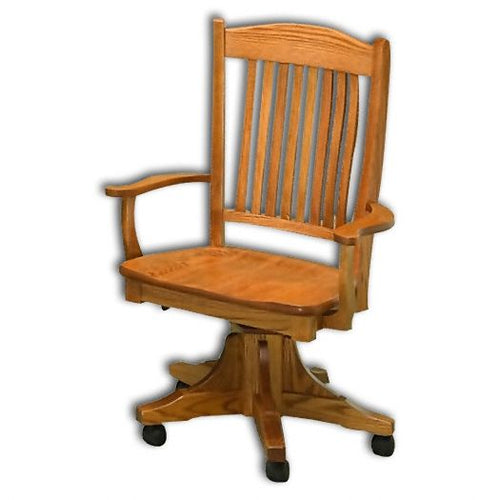 Amish USA Made Handcrafted Lyndon Office Chair sold by Online Amish Furniture LLC
