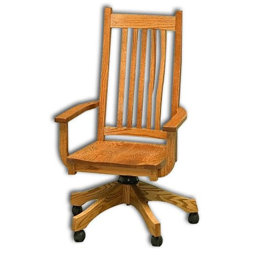 Amish USA Made Handcrafted Mission Office Chair sold by Online Amish Furniture LLC