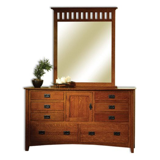 Amish USA Made Handcrafted Mission Antique Dresser sold by Online Amish Furniture LLC