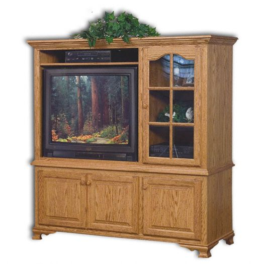 Amish USA Made Handcrafted Heritage 2-Piece Entertainment Center sold by Online Amish Furniture LLC