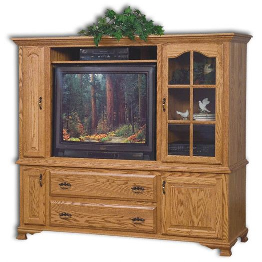Amish USA Made Handcrafted Heritage 2-Piece Entertainment Center with Media Storage sold by Online Amish Furniture LLC