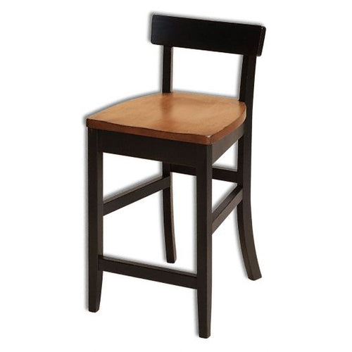Amish USA Made Handcrafted Eddison Bar Stool sold by Online Amish Furniture LLC