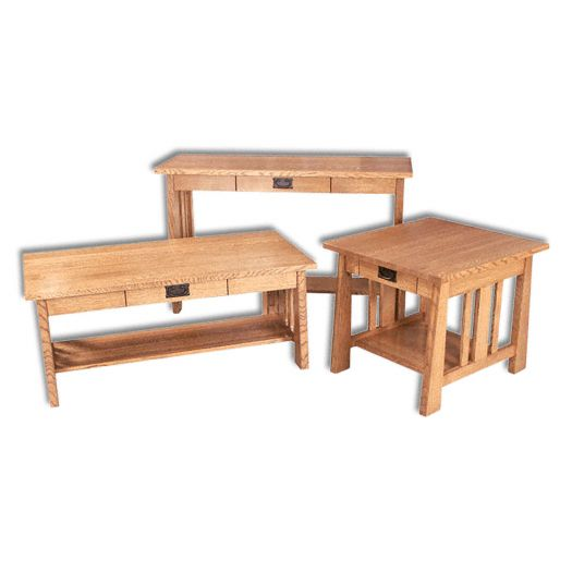 Amish USA Made Handcrafted Freemont Mission Occasional Tables sold by Online Amish Furniture LLC
