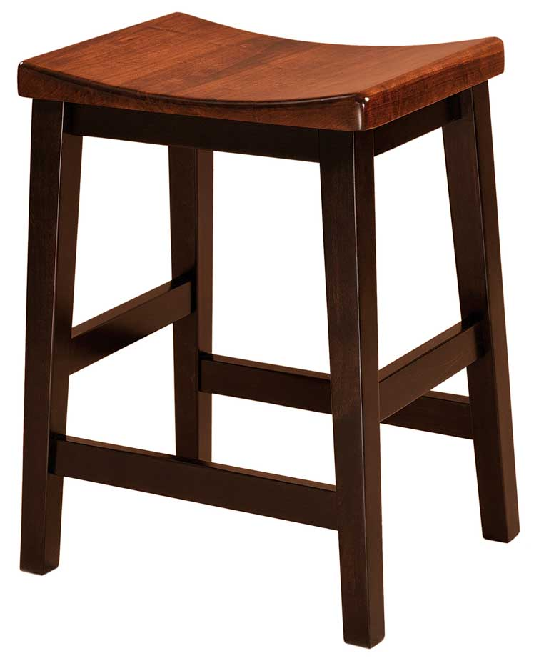Amish USA Made Handcrafted Coby Bar Stool sold by Online Amish Furniture LLC