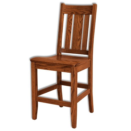 Amish USA Made Handcrafted Jacoby Bar Stool sold by Online Amish Furniture LLC