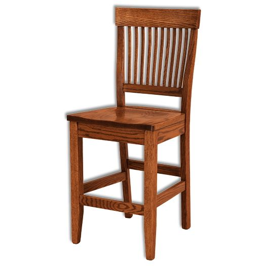 Amish USA Made Handcrafted Jefferson Bar Stool sold by Online Amish Furniture LLC
