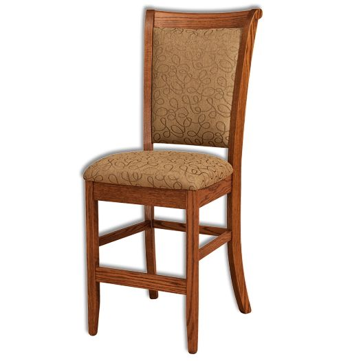 Amish USA Made Handcrafted Kimberly Bar Stool sold by Online Amish Furniture LLC