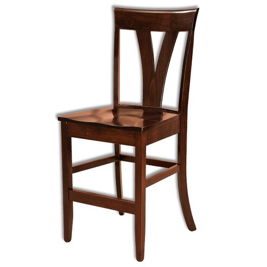 Amish USA Made Handcrafted Levine Bar Stool sold by Online Amish Furniture LLC