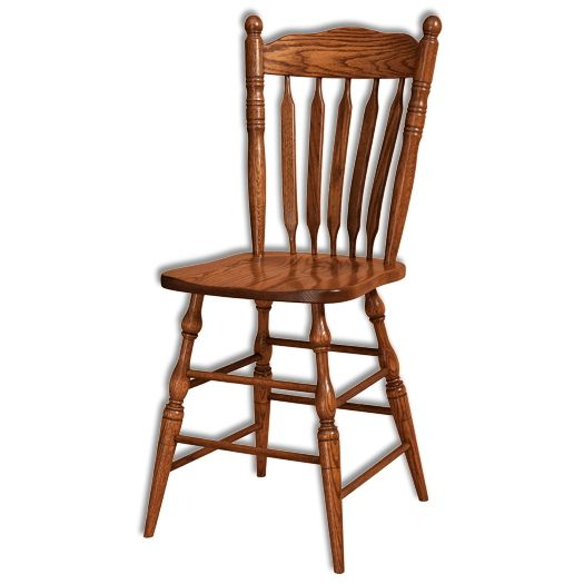 Amish USA Made Handcrafted Post Paddle Bar stool sold by Online Amish Furniture LLC