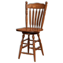 Load image into Gallery viewer, Amish USA Made Handcrafted Post Paddle Bar stool sold by Online Amish Furniture LLC
