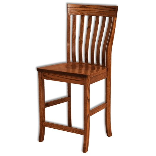Amish USA Made Handcrafted Theodore Bar Stool sold by Online Amish Furniture LLC