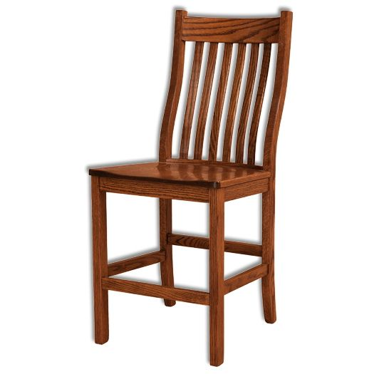 Amish USA Made Handcrafted Wabash Bar Stool sold by Online Amish Furniture LLC