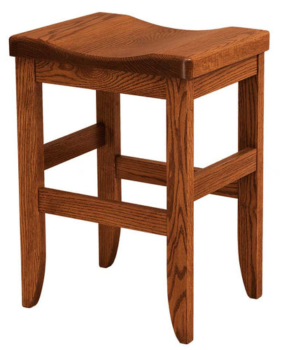 Amish USA Made Handcrafted Clifton Bar Stool sold by Online Amish Furniture LLC