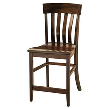 Load image into Gallery viewer, Amish USA Made Handcrafted Galena Bar Stool sold by Online Amish Furniture LLC