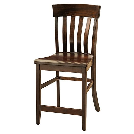 Amish USA Made Handcrafted Galena Bar Stool sold by Online Amish Furniture LLC