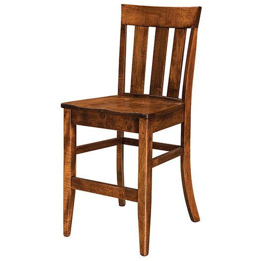 Amish USA Made Handcrafted Glenmont Bar Stool sold by Online Amish Furniture LLC