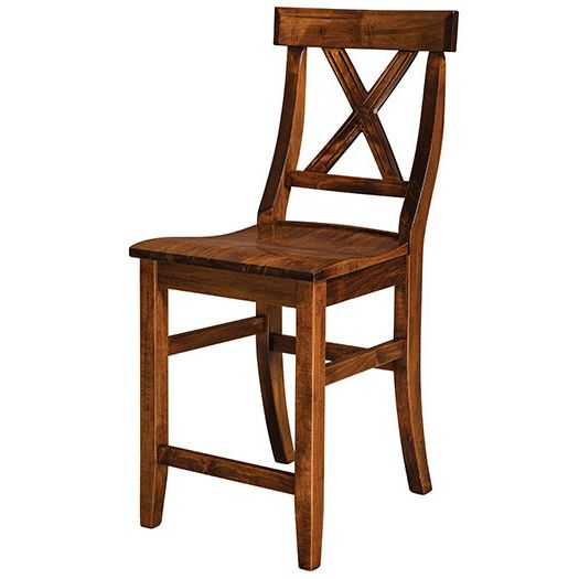 Amish USA Made Handcrafted Vornado Bar Stool sold by Online Amish Furniture LLC