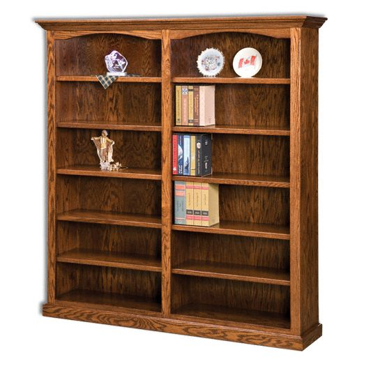 Amish USA Made Handcrafted Hoosier Heritage Double Bookcase sold by Online Amish Furniture LLC
