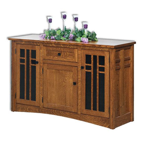 Amish USA Made Handcrafted Kascade 3-Door 1-Drawer Media Stand sold by Online Amish Furniture LLC