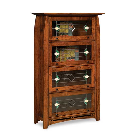 Amish USA Made Handcrafted Boulder Creek Barrister Bookcase sold by Online Amish Furniture LLC