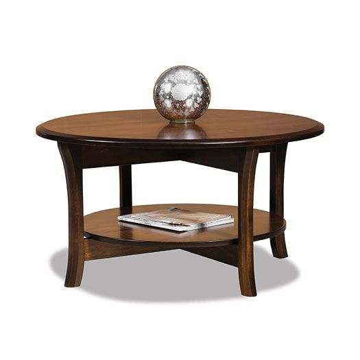 Amish USA Made Handcrafted Ensenada Round Coffee Table sold by Online Amish Furniture LLC