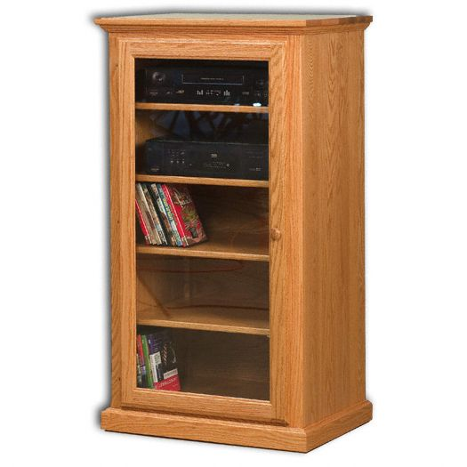 Amish USA Made Handcrafted Classic Stereo Cabinet sold by Online Amish Furniture LLC