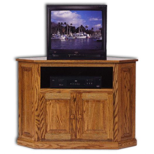 Amish USA Made Handcrafted Classic Corner Media Console sold by Online Amish Furniture LLC