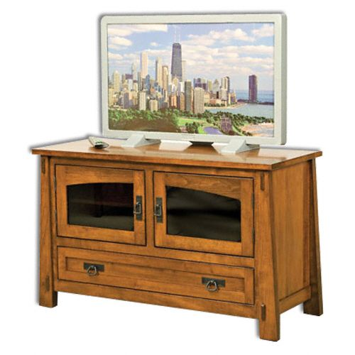 Amish USA Made Handcrafted Modesto 2-Door 1-Drawer Media Stand sold by Online Amish Furniture LLC
