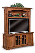 Load image into Gallery viewer, Amish USA Made Handcrafted Kascade 4-Door 2-Piece Media Center sold by Online Amish Furniture LLC