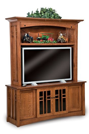 Amish USA Made Handcrafted Kascade 4-Door 2-Piece Media Center sold by Online Amish Furniture LLC