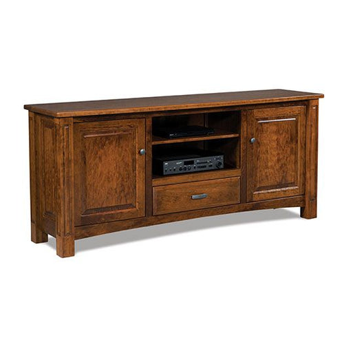 Amish USA Made Handcrafted Lexington 2-Door 1-Drawer Media Stand sold by Online Amish Furniture LLC