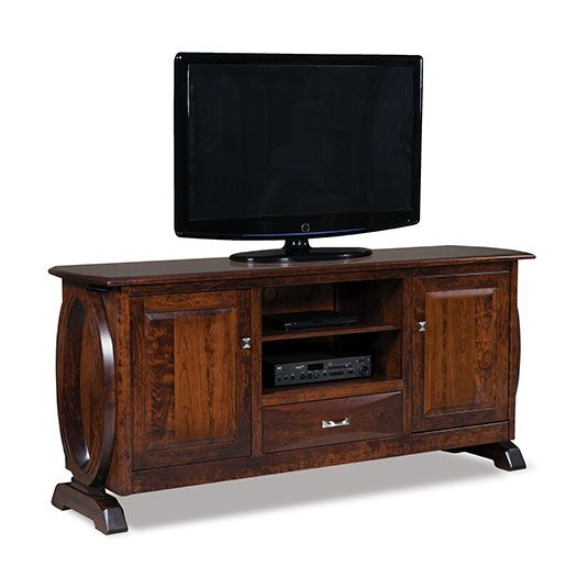 Amish USA Made Handcrafted Saratoga 2-Door 1-Drawer Media Stand sold by Online Amish Furniture LLC