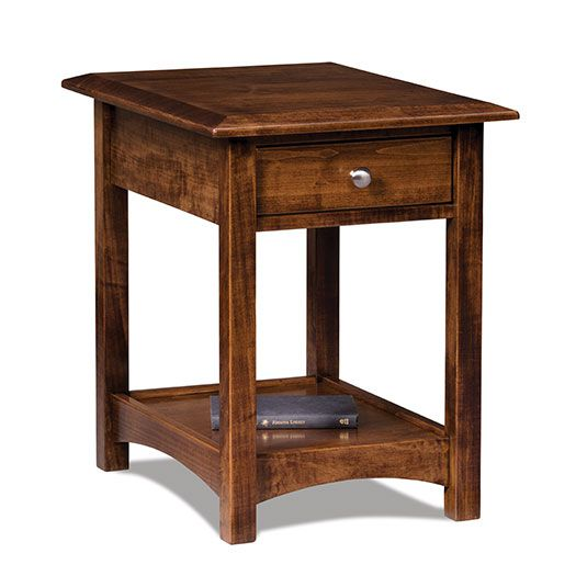Amish USA Made Handcrafted Finland Open End Table sold by Online Amish Furniture LLC