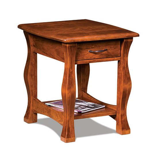 Amish USA Made Handcrafted Reno Open End Table sold by Online Amish Furniture LLC